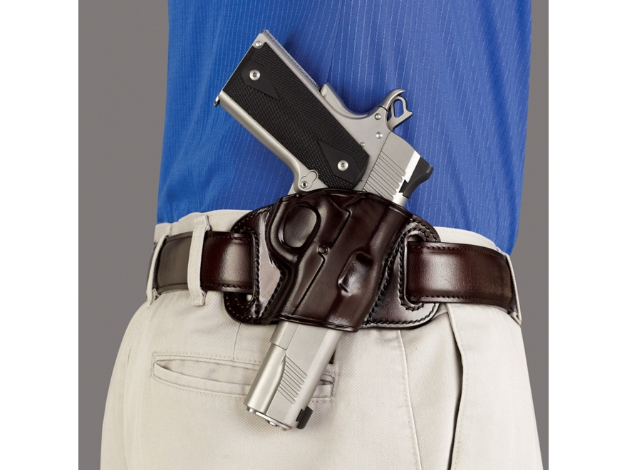 Galco Quick Slide Belt Holster Right Hand Glock 17, 22, 31 Leather Havana