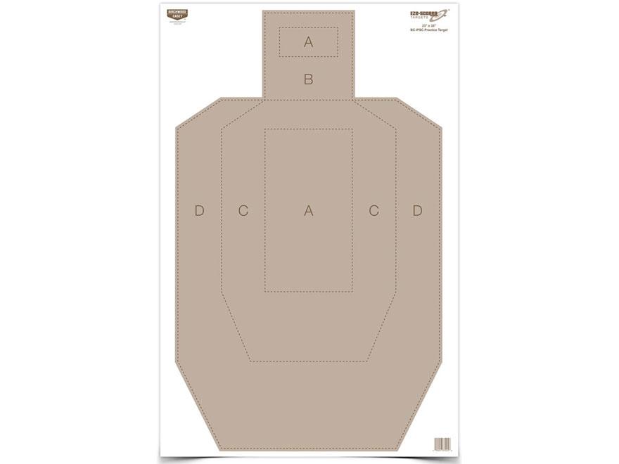 """Birchwood Casey Eze-Scorer IPSC Practice Targets 23"""" x 35"""" Package of 5"""