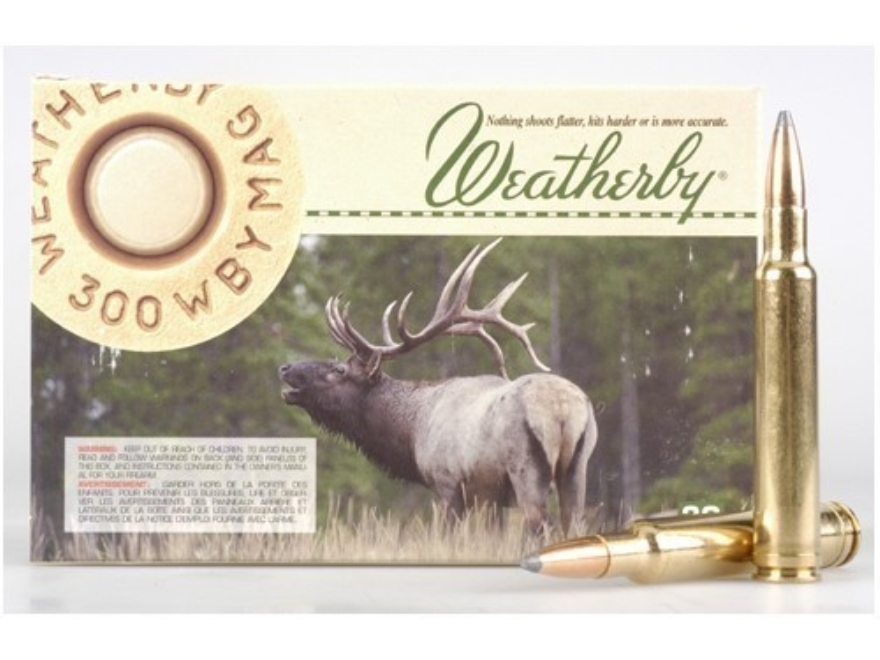 Weatherby Ammunition 300 Weatherby Magnum 180 Grain Hornady Spire Point Box of 20