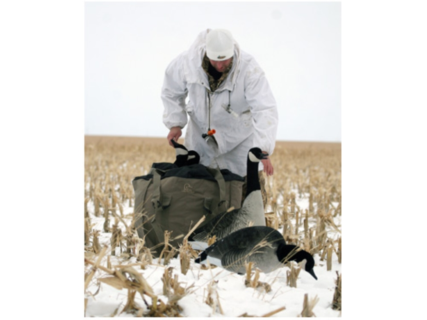 Avery Full Body Honker Goose Decoy Bag 4 Slot Nylon Field Khaki