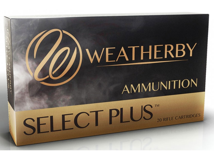 Weatherby Select Plus Ammunition 7mm Weatherby Magnum 150 Grain Nosler Ballistic Tip Bo...
