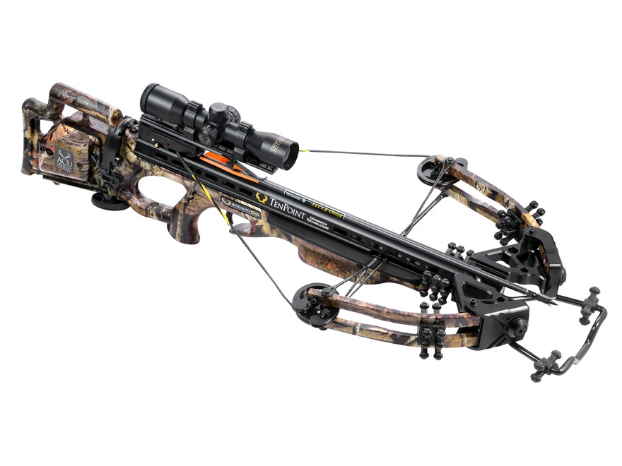 TenPoint Stealth SS Crossbow Package with 3X Pro-View 2 Scope and ACUdraw Mossy Oak Bre...