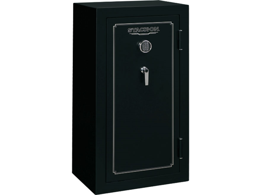 Stack-On Fire Resistant 24-Gun Safe with Electronic Lock Matte Black