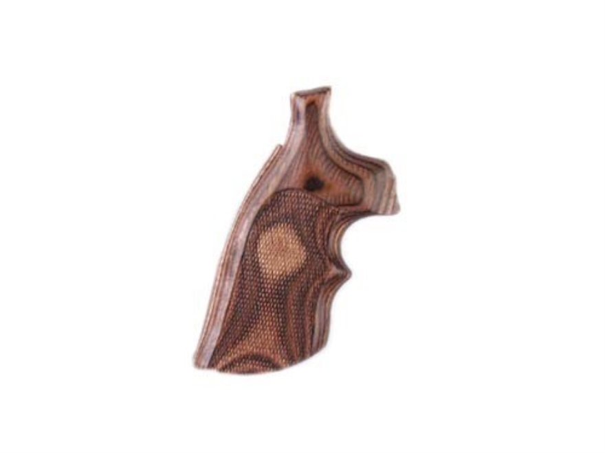 Hogue Fancy Hardwood Grips with Top Finger Groove S&W K, L-Frame Checkered Rosewood Lam...