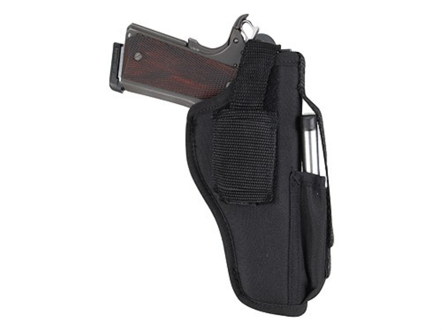 "GunMate Hip Holster Ambidextrous Medium Semi-Automatic 4"" Barrel Nylon Black"