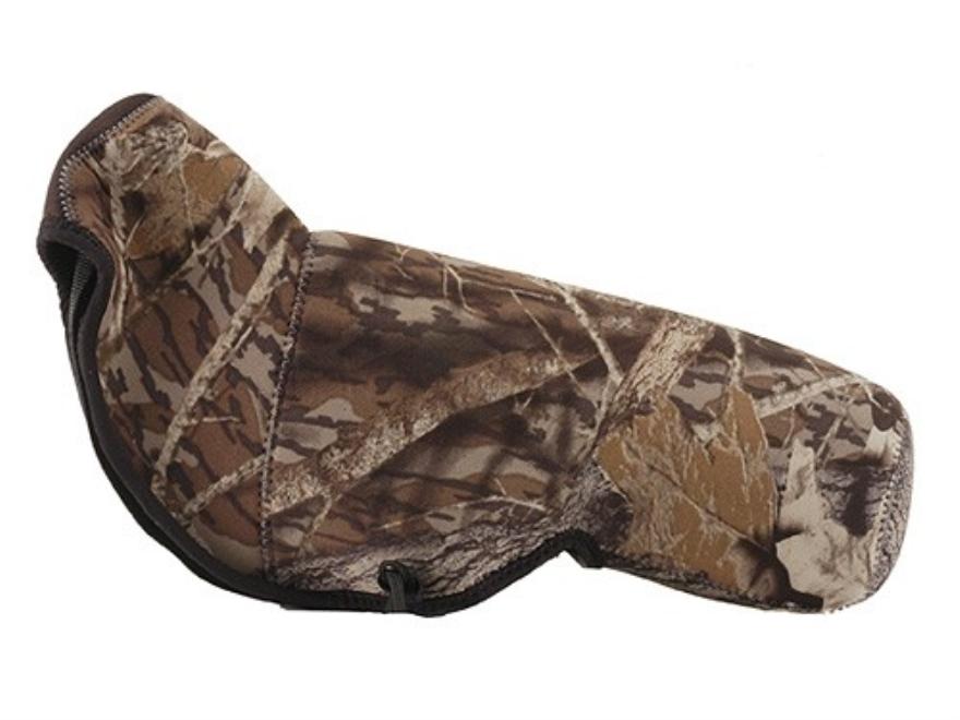 CrossTac Spotting Scope Cover Medium Angled Body Neoprene Reversible Black, Mossy Oak B...