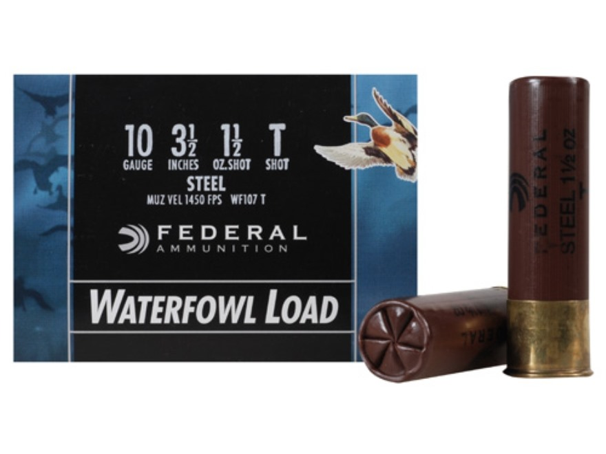 "Federal Speed-Shok Waterfowl Ammunition 10 Gauge 3-1/2"" 1-1/2 oz T Non-Toxic Steel Shot"