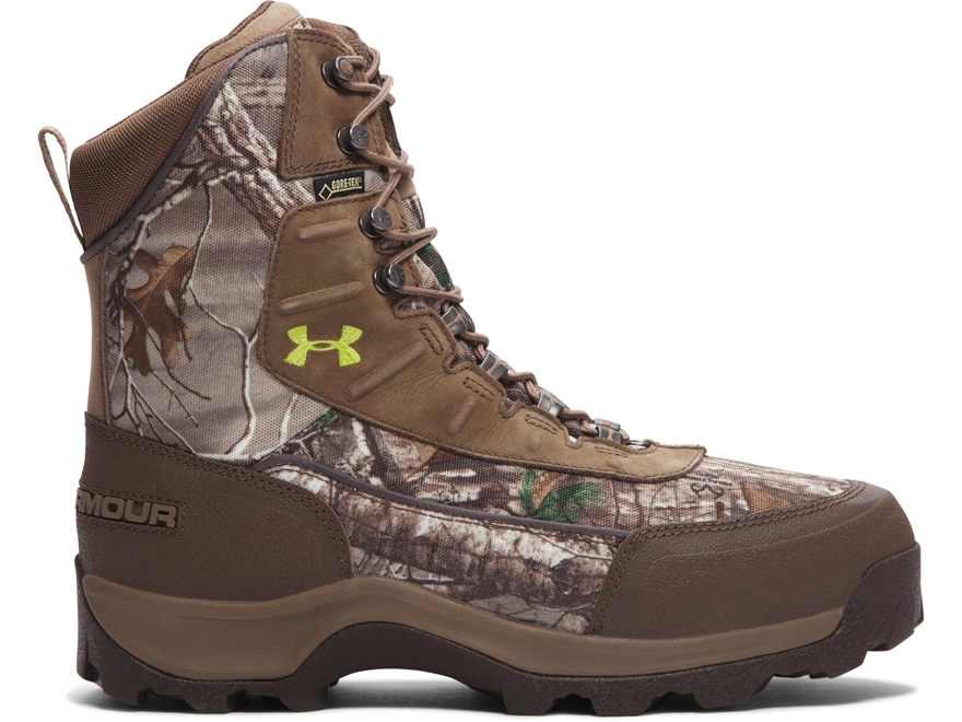 "Under Armour UA Brow Tine 8"" 800 Gram Insulated Waterproof Hunting Boots Leather Realtr..."