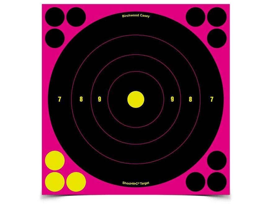 "Birchwood Casey Shoot-N-C Pink Target 8"" Bullseye"
