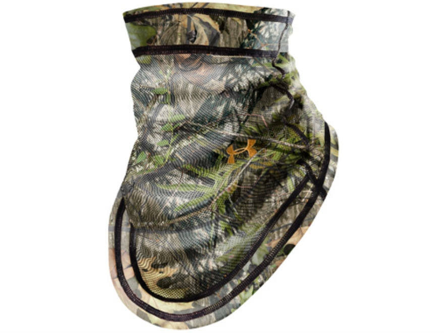 Under Armour Evolution Turkey Face Mask Synthetic Blend Mossy Oak Obsession Camo
