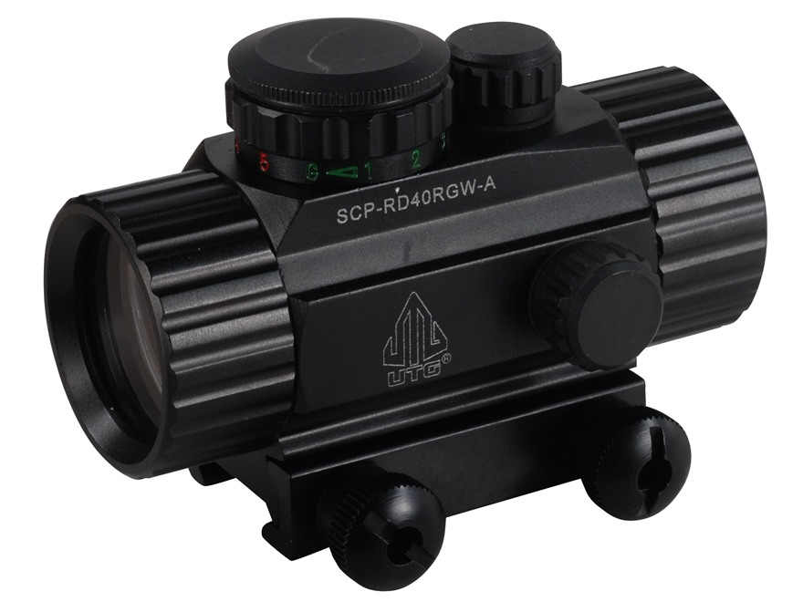 Leapers UTG Red Dot Sight 38mm Tube 1x 4 MOA Red and Green Dot with Integral Picatinny ...