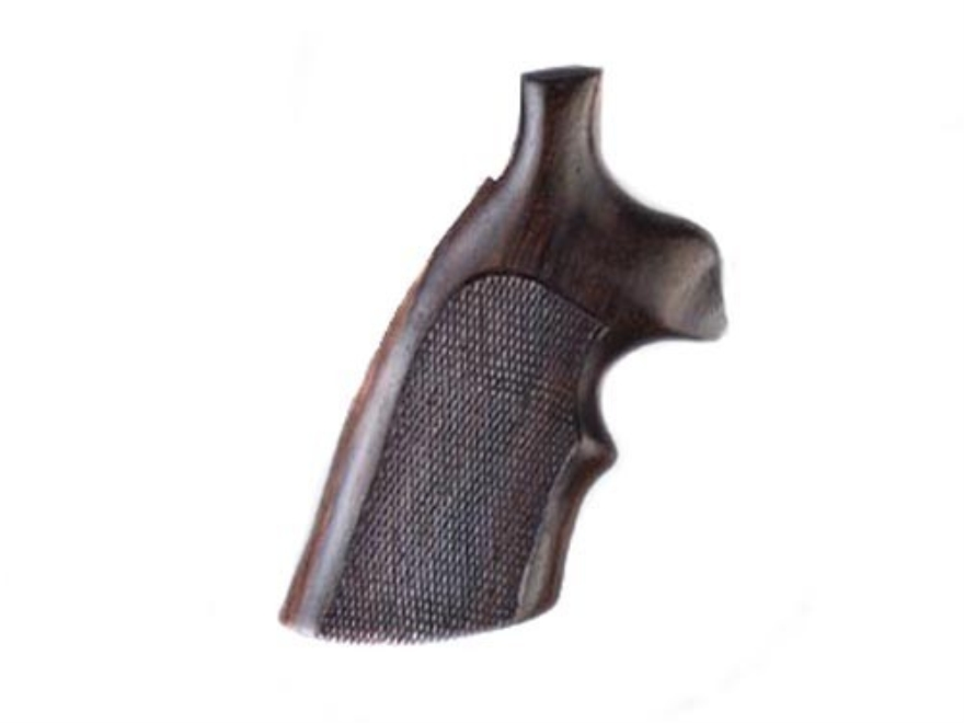 Hogue Fancy Hardwood Grips with Top Finger Groove Colt Trooper Mark III Checkered
