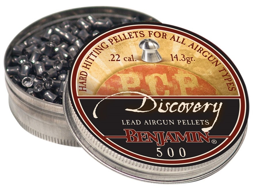 Benjamin Airgun Pellets 22 Caliber 14.3 Grain Discovery Hollow Point Tin of 500