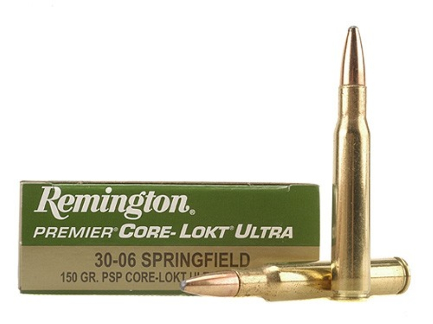 Remington Premier Ammunition 30-06 Springfield 150 Grain Core-Lokt Ultra Bonded Pointed...