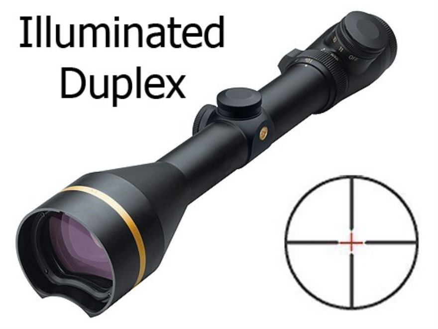 Leupold VX-L QDMA Rifle Scope 30mm Tube 3.5-10x 50mm Illuminated Duplex Reticle Matte F...