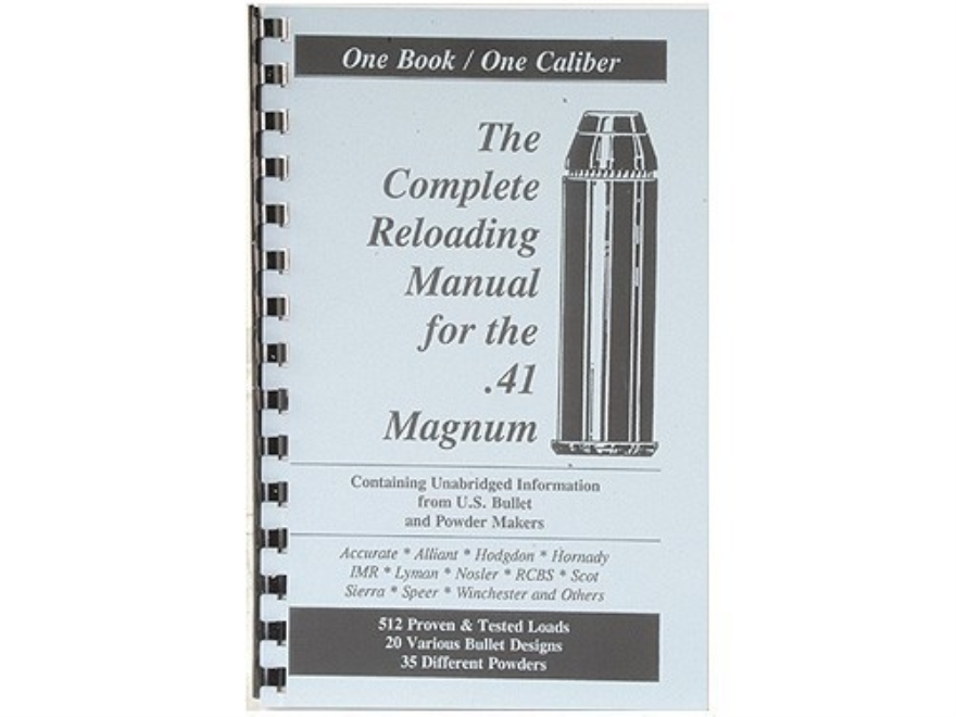 "Loadbooks USA ""41 Remington Magnum"" Reloading Manual"