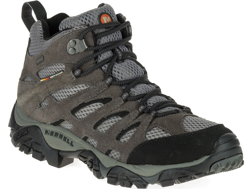 """Merrell Moab Mid 5"""" Waterproof Hiking Boots Leather and Suede Men's"""