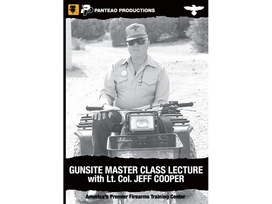 """Panteao """"Gunsite Master Class Lecture with Lt. Col Jeff Cooper"""" DVD"""