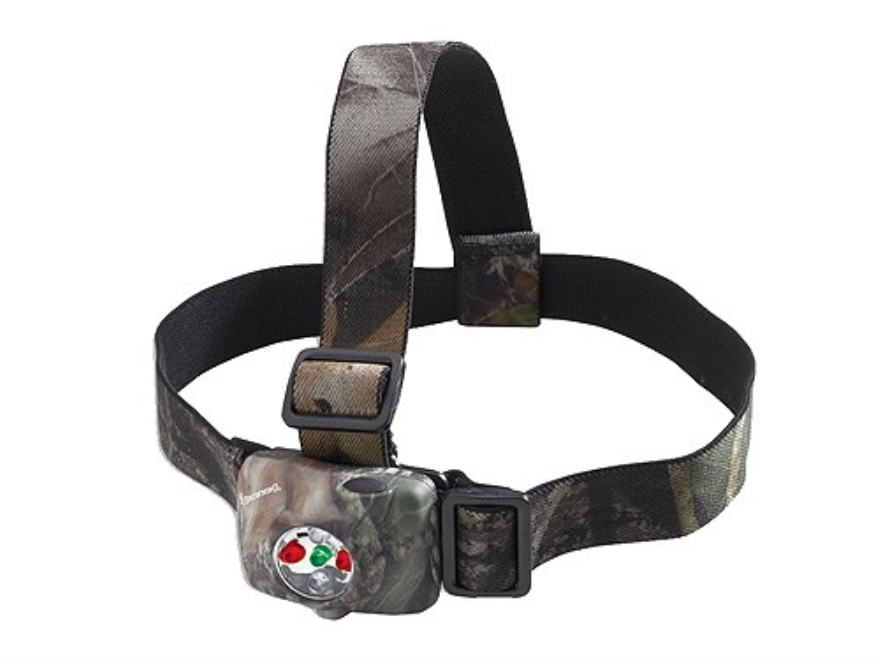 Browning Black Ice Headlamp White, Red and Green LEDs with Batteries (2 CR123A) Mossy O...