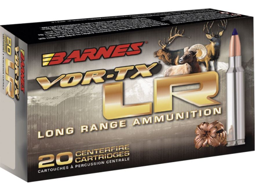 Barnes VOR-TX Long Range Ammunition 7mm Remington Ultra Magnum 145 Grain Barnes LRX Boa...