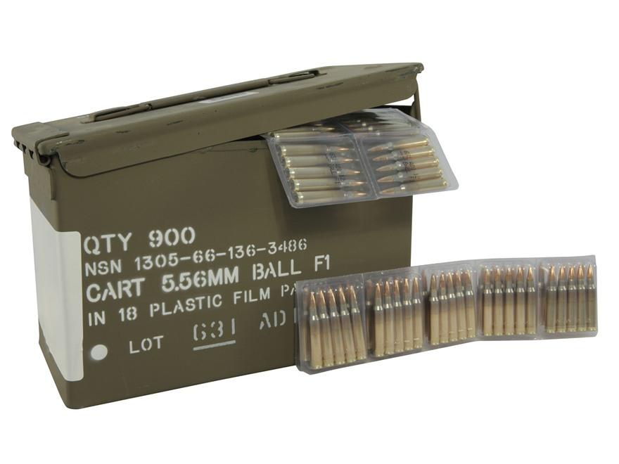 Alternate Image 1  sc 1 st  MidwayUSA & Surplus Ammo 5.56x45mm NATO 62 Grain F1 Ball Full - MPN: ADI556F1 Aboutintivar.Com
