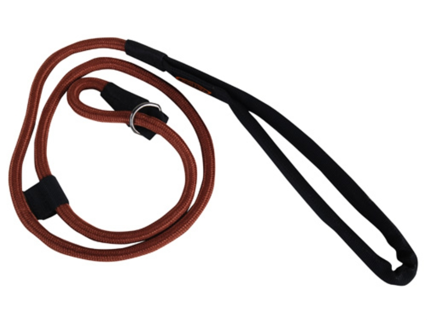 Mud River Hugo Slip Dog Leash 4' Nylon Brown