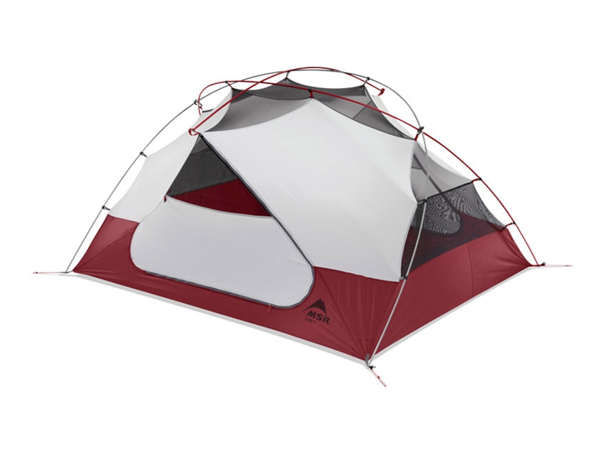 "MSR Elixir 3 Man Modified Dome Tent 84"" x 68"" x 41"" Polyester Red and White"