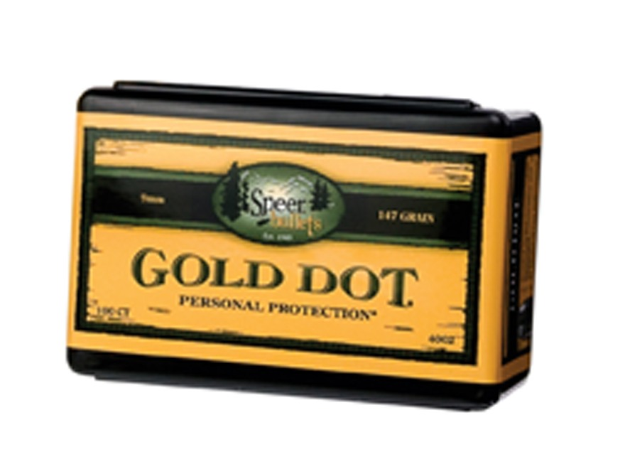 Speer Gold Dot Bullets 9mm (355 Diameter) 124 Grain Bonded Jacketed Hollow Point Box of...