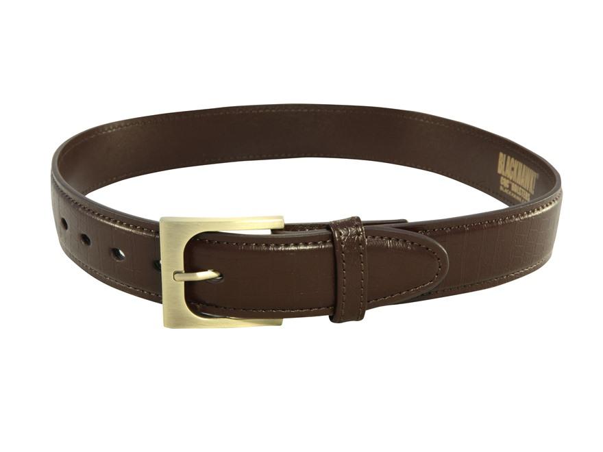 "Blackhawk CQC Pistol Belt 1-1/2"" Reinforced Black Leather"