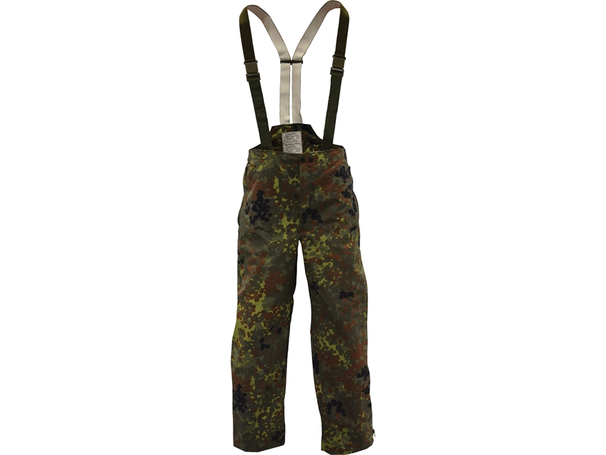 Military Surplus German Wet Weather Pants Flecktarn Camo
