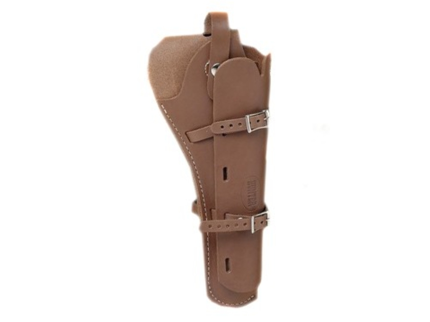 Hunter 68-100 Scoped Pistol Belt Holster Right Hand Leather Brown