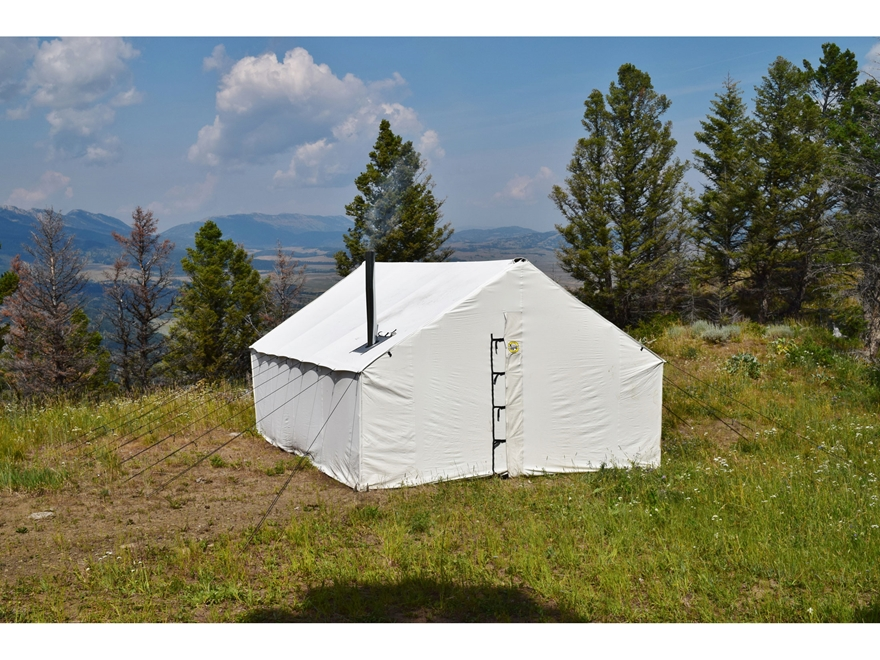 Montana Canvas 16u0027 x 20u0027 Wall Tent with 5  ... & Montana Canvas 16u0027 x 20u0027 Wall Tent 5 Stove Jack - MPN: 10oz16x20