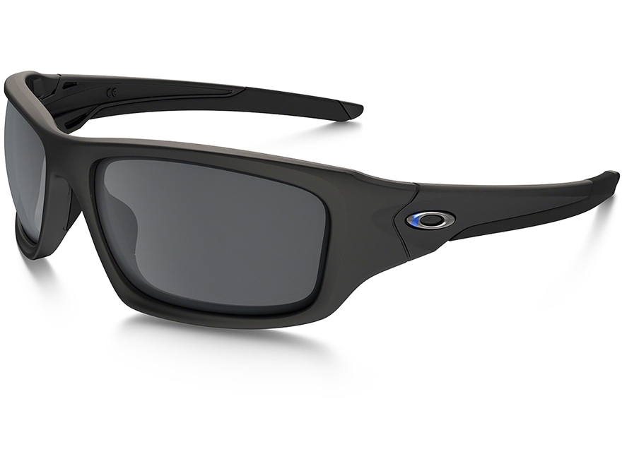 Oakley SI Valve Thin Blue Line Sunglasses Black Frame/Black Iridium Lens