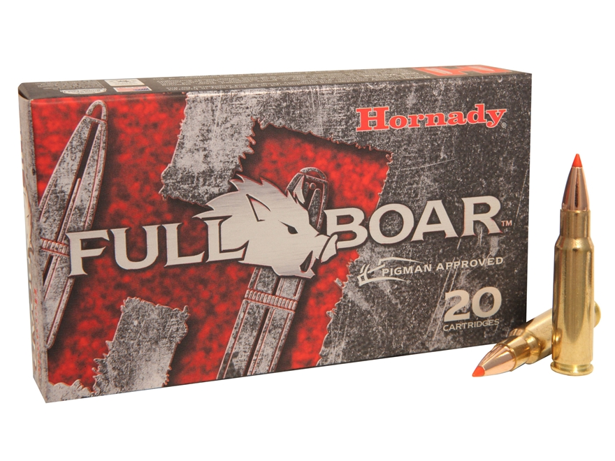 Hornady Full Boar Ammunition 6.8mm Remington SPC 100 Grain GMX Boat Tail Lead-Free Box ...