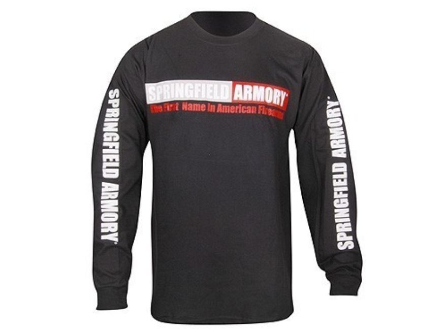 "Springfield Armory T-Shirt Long Sleeve Cotton Black XL (48"")"