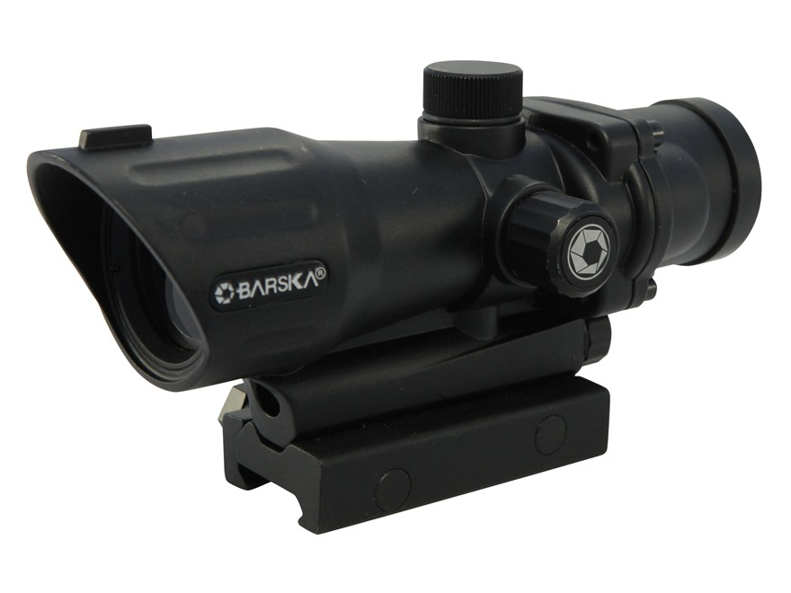Barska AR-15 Red Dot Sight 1x 30mm Illuminated Tactical Reticle with Picatinny-Style Ri...
