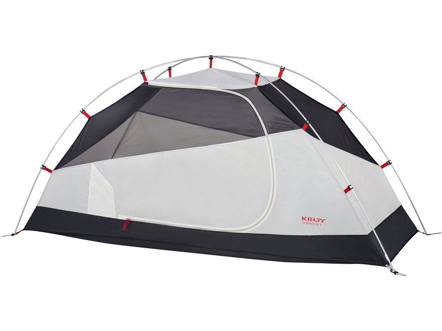 """Kelty Gunnison 1 Person Dome Tent with Footprint 89"""" x 29"""" x 43"""" Polyester Gray"""