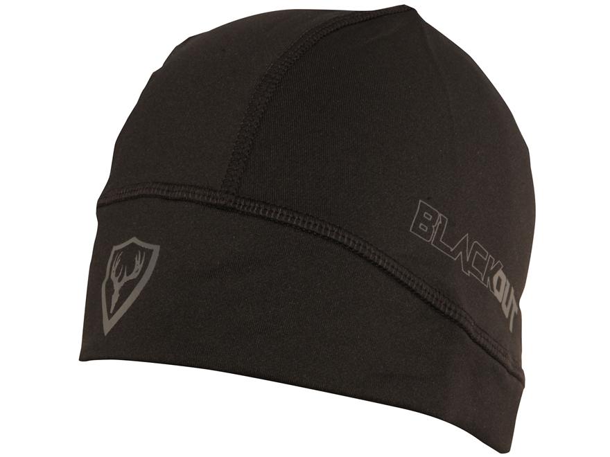 ScentBlocker Black Out Skull Cap Poyester Blend Black