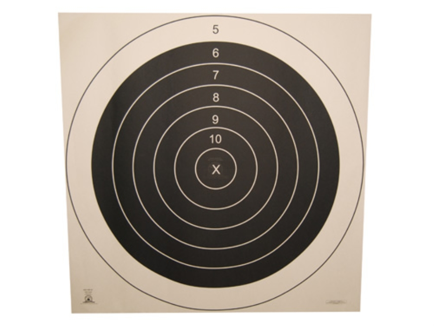 NRA Official High Power Rifle Targets MR-65 500 Yard Full Face Paper Package of 50
