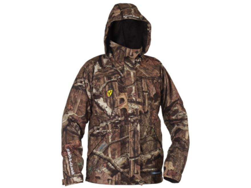 ScentBlocker Men's Triple Threat Waterproof Jacket Polyester Mossy Oak Break-Up Infinit...
