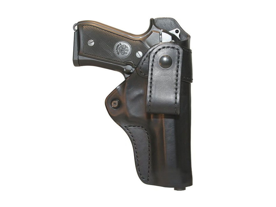 BLACKHAWK! Inside the Waistband Holster Right Hand Leather Belt Loop S&W M&P Compact 9m...