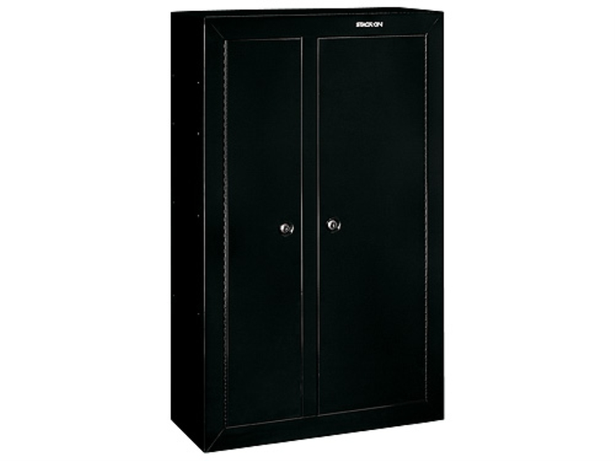 Stack on 10 gun double door security cabinet black for 10 gun double door steel security cabinet