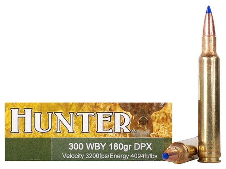 Cor-Bon DPX Hunter Ammunition 300 Weatherby Magnum 180 Grain Tipped DPX Lead-Free Box o...