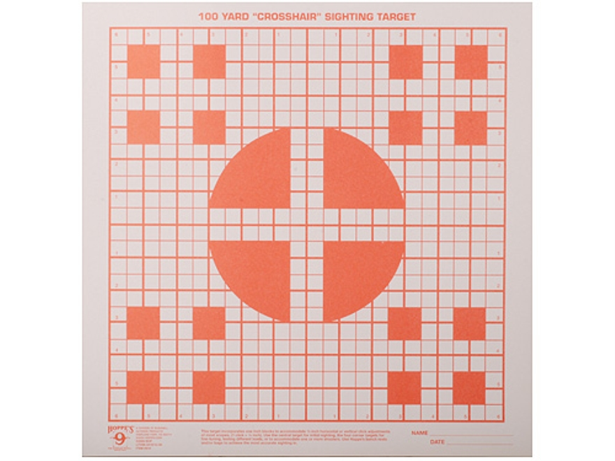Hoppe's Crosshair Target 100 Yard Orange Package of 20