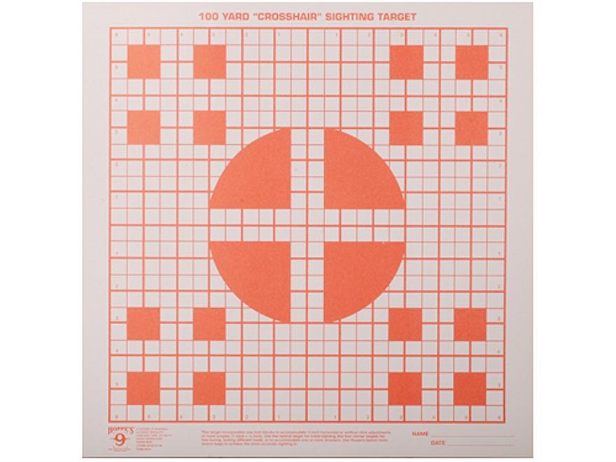 Hoppe's Crosshair Target 100 Yard Orange Package of 20