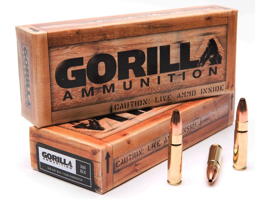 Gorilla Ammunition 300 AAC Blackout 110 Grain Varminter Hollow Point