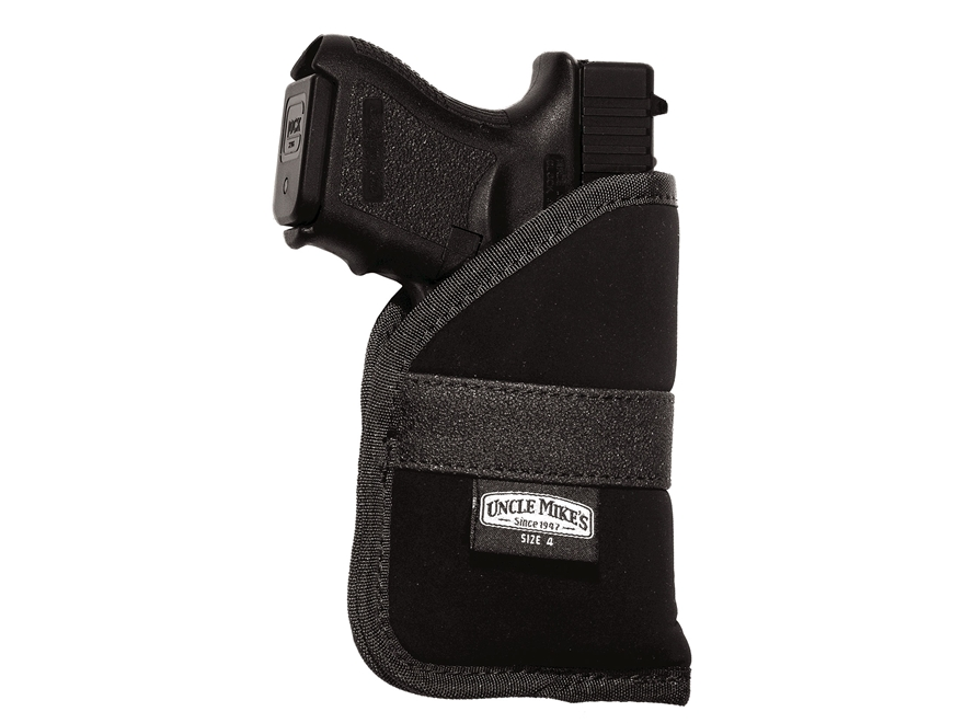 Uncle Mike's Inside-the-Pocket Holster Ambidextrous Medium Frame Semi-Automatic 9mm Lug...