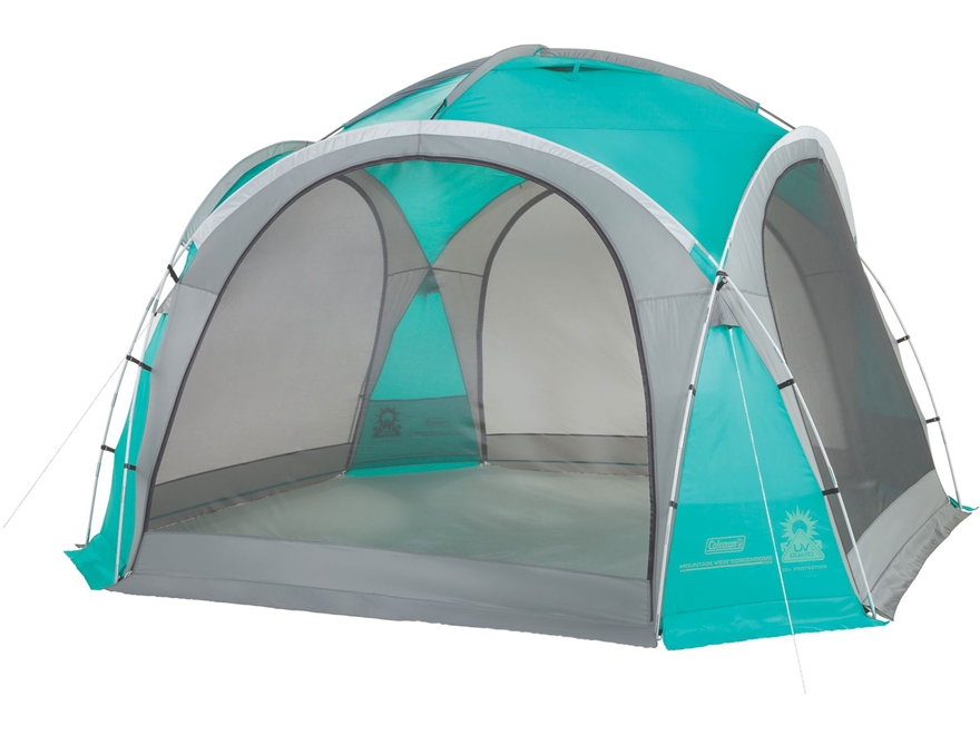 "Coleman Mountain View Screendome Shelter 144"" x 144"" Polyester Blue and Gray"