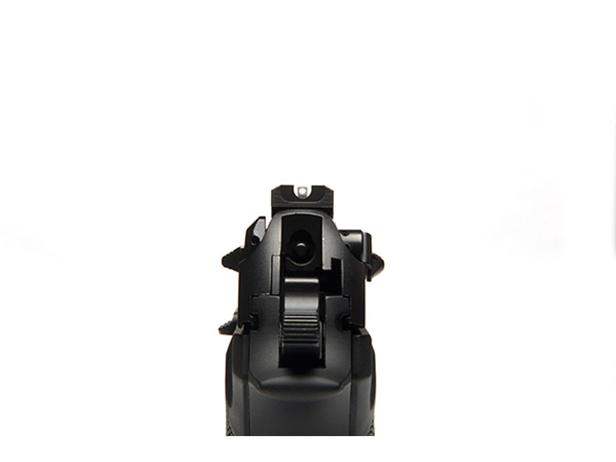"Wilson Combat Battlesight Rear Sight Serrated Blade Beretta 92FS, 96FS .270"" Steel Black"