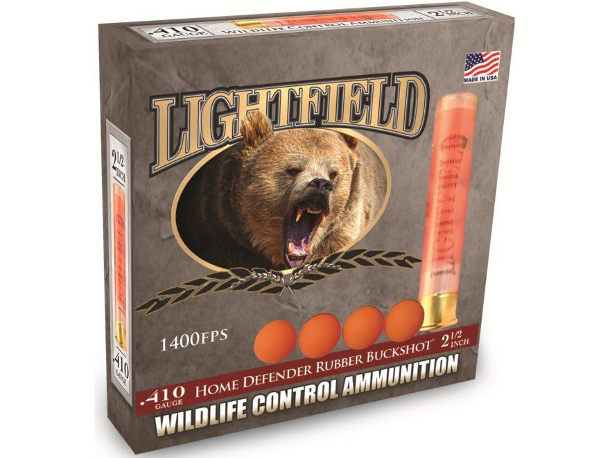 "Lightfield Wildlife Control Less Lethal Ammunition 410 Bore 2-1/2"" Rubber Buckshot 4 Pe..."